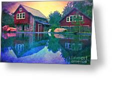 The Guest Cottage Greeting Card by Kevyn Bashore