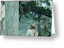 The Guide Greeting Card by Winslow Homer