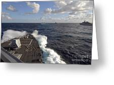 The Guided-missile Destroyer Uss Nitze Greeting Card