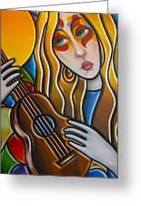 The Guitar Girl Greeting Card