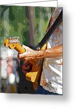 The Guitar Player Greeting Card