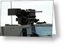 The Gun Mounted On Top Of The Dingo II Greeting Card
