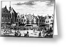 The Hague: Market, 1727 Greeting Card