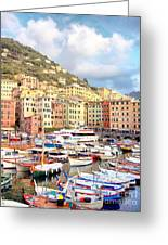 The Harbor At Camogli Greeting Card