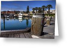 The Harbour At Mindarie Greeting Card