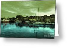 The Harbour At Padstow Greeting Card