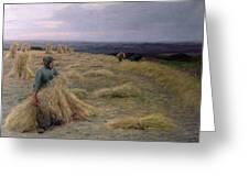 The Harvesters Svinklov Viildemosen Jutland Greeting Card