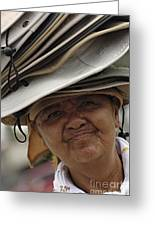 The Hat Lady Costa Rica Greeting Card