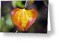 The Heart Of Autumn Greeting Card