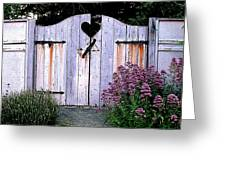 The Heart, Like An Old Gate Needs Care And Attention Greeting Card