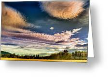 The Heavy Clouds Greeting Card