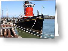 The Hercules . A 1907 Steam Tug Boat At The Hyde Street Pier In San Francisco California . 7d14137 Greeting Card