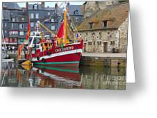 The Historic Fishing Village Of Honfleur Greeting Card
