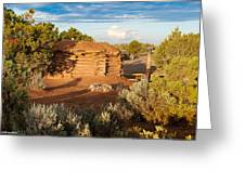 The Hogan Where  We Stayed Canyon Dechelly Nps Greeting Card