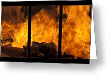 The Home Fires Are Burning Triptych Greeting Card