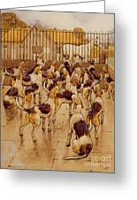 The Hounds Began Suddenly To Howl In Chorus  Greeting Card