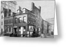 The House At The Corner Greeting Card by Steve K