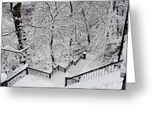 The Hundred Steps In The Snow Greeting Card