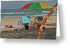 The Idyll On The Mediterranean Shore Greeting Card