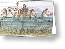 The Iliad: Neptune, 1805 Greeting Card