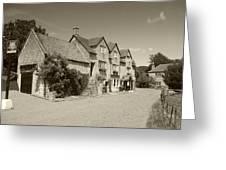 The Inn Freshford 1 Sepia Greeting Card