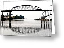 The International Peace Bridge Between The United States  And Canada Greeting Card