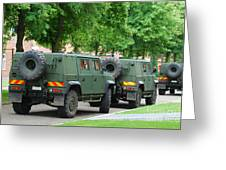 The Iveco Lmv Of The Belgian Army Greeting Card