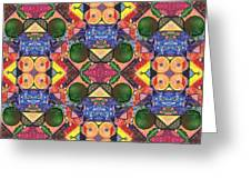 The Joy Of Design Series Arrangement Twenty Times Over Greeting Card