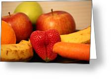 The Joy Of Fruit In The Morning Greeting Card by Andrea Nicosia