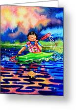 The Kayak Racer 11 Greeting Card