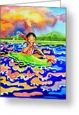 The Kayak Racer 12 Greeting Card