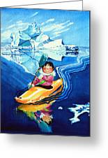 The Kayak Racer 13 Greeting Card by Hanne Lore Koehler