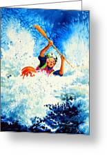 The Kayak Racer 16 Greeting Card by Hanne Lore Koehler