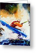 The Kayak Racer 17 Greeting Card by Hanne Lore Koehler