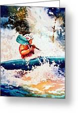 The Kayak Racer 18 Greeting Card