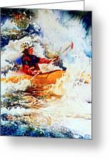 The Kayak Racer 19 Greeting Card