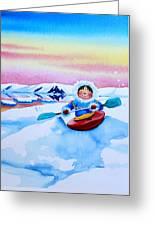 The Kayak Racer 3 Greeting Card