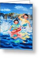 The Kayak Racer 7 Greeting Card