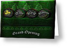 The Keg Room Grand Opening Version 3 Greeting Card