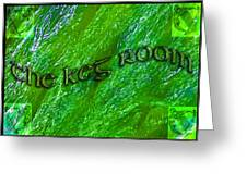 The Keg Room With Harps Greeting Card