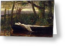 The Lady Of Shalott Greeting Card