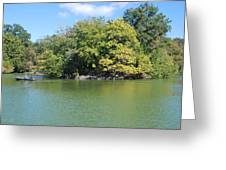 The Lake In Central Park Greeting Card