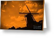 The Land Of Orange Greeting Card by Carol Groenen