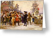 The Landing Of William Penn, 1682 Greeting Card