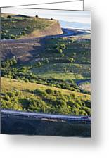 The Landscape Around The Interstate Greeting Card by Don Mason