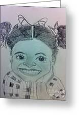The Late Jahessye Shockley Greeting Card by Charita Padilla