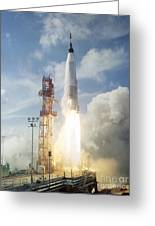 The Launch Of The Mercury-atlas 4 Greeting Card