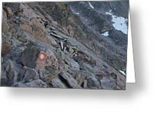 The Ledges On Longs Peak Greeting Card