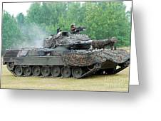 The Leopard 1a5 Main Battle Tank Greeting Card by Luc De Jaeger