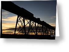 The Lethbridge Bridge Greeting Card
